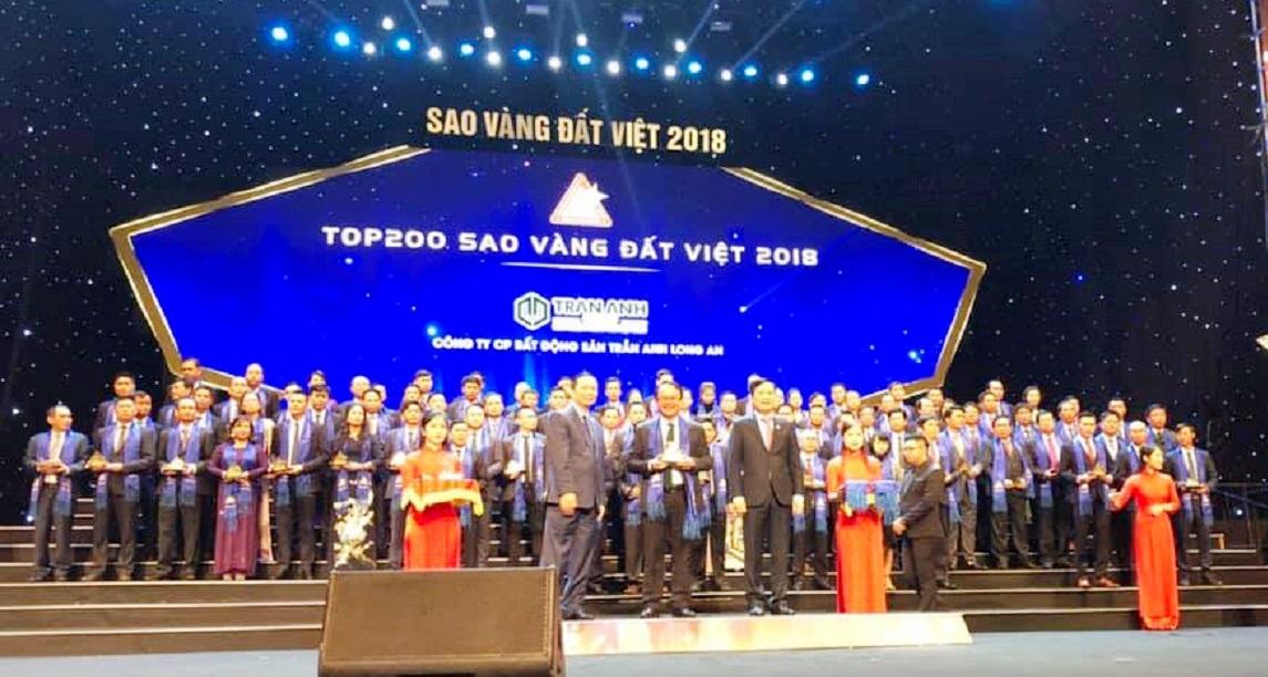 Trần Anh Group lọt Top 200 Giải thưởng Sao Vàng Đất Việt 2018